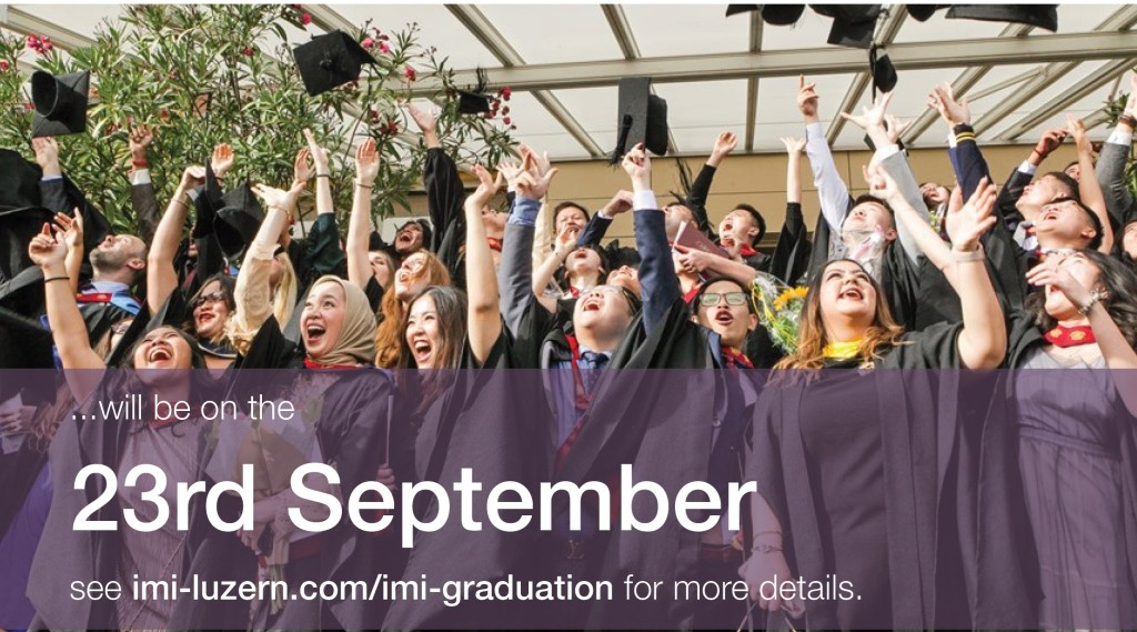 Und Graduation 2020.Imi International Management Institute